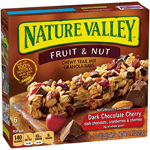 Nature Valley Chewy Bars, Dark Chocolate Cherry - 7.4 Ounce