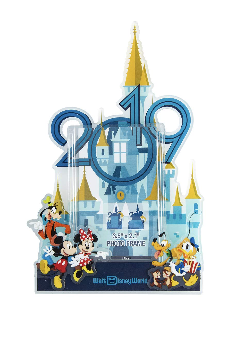 Walt Disney World 2019 Mickey Mouse Magnetic Photo Frame with Stand
