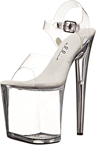 "Details about  /Exotic dancer 8/"" grey tint platform stripper shoes"