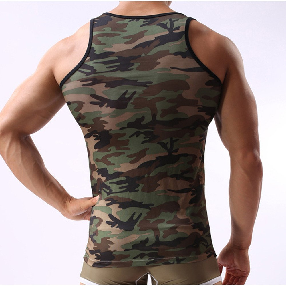 Men's Camouflage Vest, Sportswear Tank Top Military Sleeveless,SUNSEE TEEN NEW by Sunsee (Image #5)