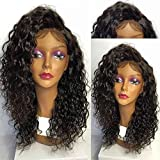 Elva Hair Guleless Full Lace Human Hair Wigs for Black women Brazilian Virgin Hair Wig Curly Human Hair Wigs 12inch with 150% density