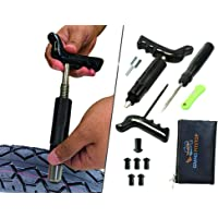 GRAND PITSTOP Tubeless Tire Puncture Repair Kit for Motorcycle and Cars with 6 Mushroom Plugs