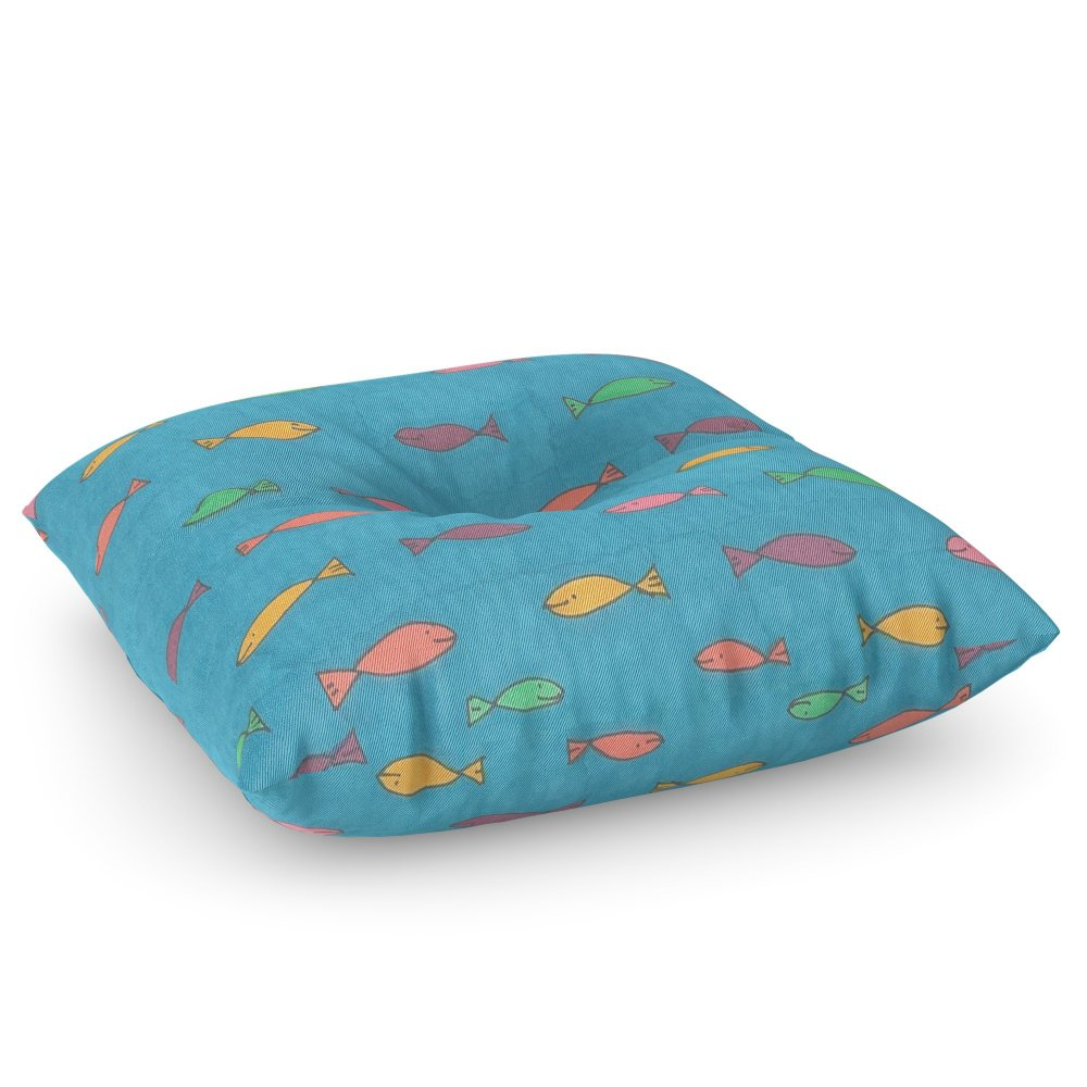 Society6 School Of Fish Floor Pillow Square 26'' x 26''