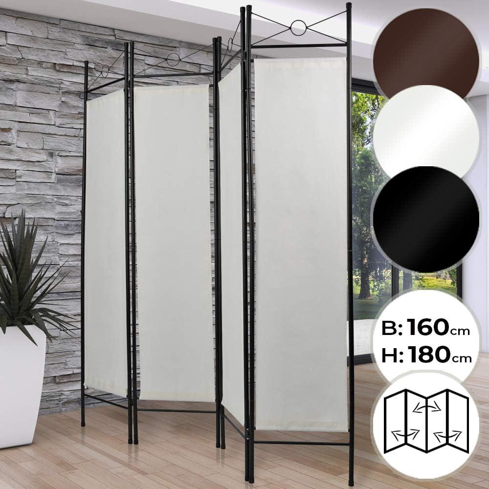 Miadomodo Paravent Interieur 4 Panneaux 180 X 160 Cm En Fer