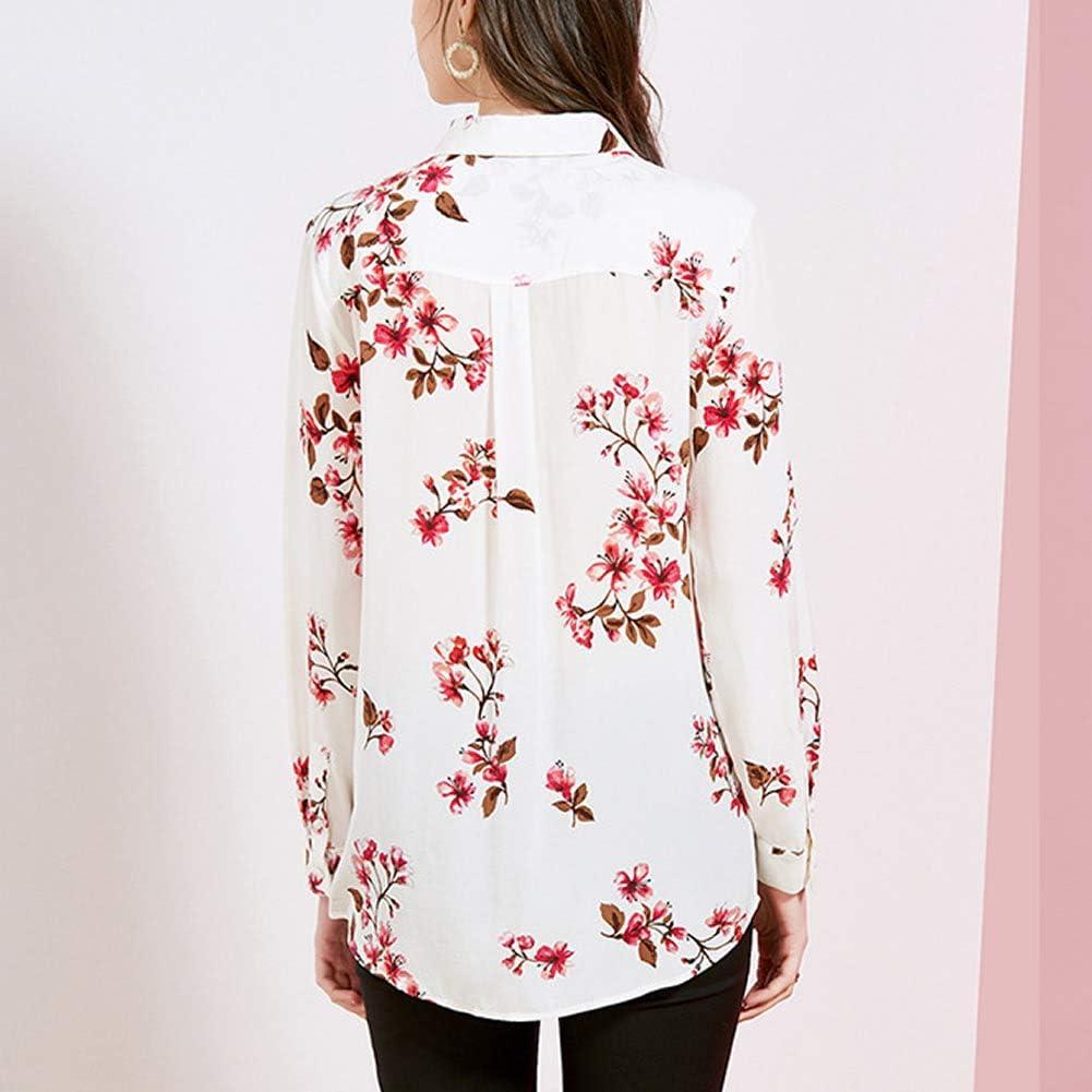 DISSA S7209 Women Silk Blouse Top Shirt Collar Long Sleeve Slim Shirt Silk Shirt Top White