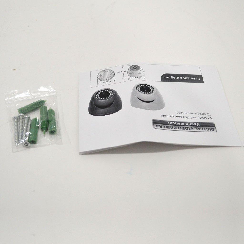 1080p Hd Cvi Vandal Resistant Indoor Outdoor Dome Circuit Diagram Video Camera Security 100 Ir 28 12mm Varifocal Zoom Lens High Definition Recording