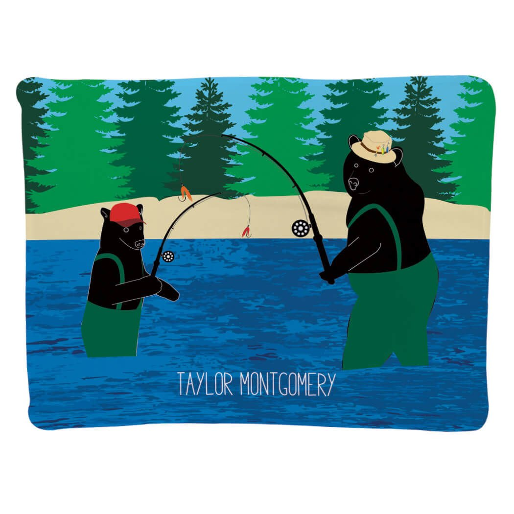 Fly Fishing Baby & Infant Blanket | Fly Fishing Bears