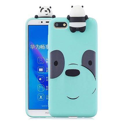 Amazon com: MZBaoLingMeiDongUS Huawei Y5 2018 Case, Blue Panda Bear