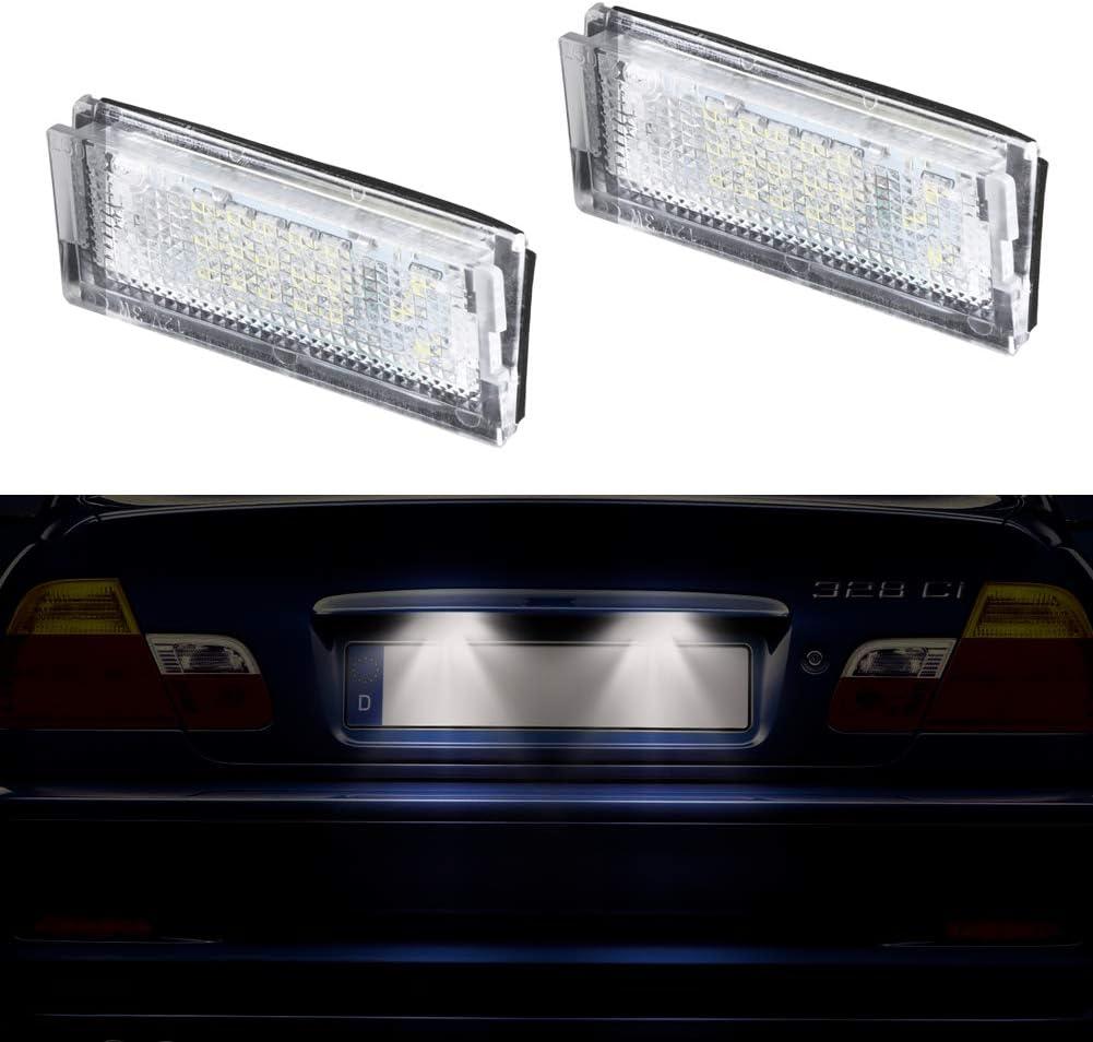 1 Paar Oz Lampe Kennzeichenbeleuchtung Glühbirnen Nummernschildbeleuchtung Kompatibel Mit B M W E46 4d Limousine 1998 2007 E46 5d Touring 1998 2005 Weiße Farbe Rohs Emark Und Ce Zertifiziert Auto