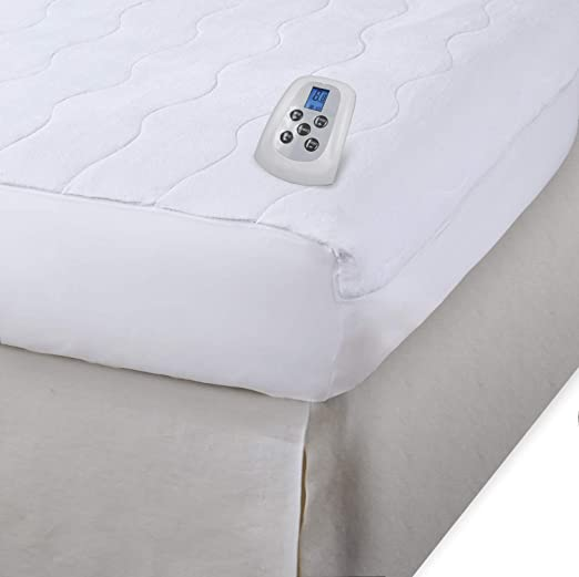 Amazon.com: Serta | Silky Smooth Plush Velour Electric Heated Mattress Pad with Hypoallergenic Fill (California King): Home & Kitchen