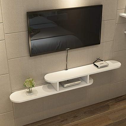 Mensola Porta Tv Legno.Mensola A Muro Scaffale Galleggiante Porta Tv In Legno