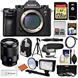Sony Alpha A9 Wi-Fi 4K Digital Camera Body with 24-70mm f/4 ZA Lens + 128GB + Battery & Charger + Backpack + Filters + LED/Flash + Mic + Tripod + Kit