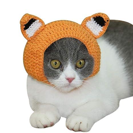 Yonfan - Gorro para Mascota, Gato, Perro, Gorro de Buey, Accesorios para