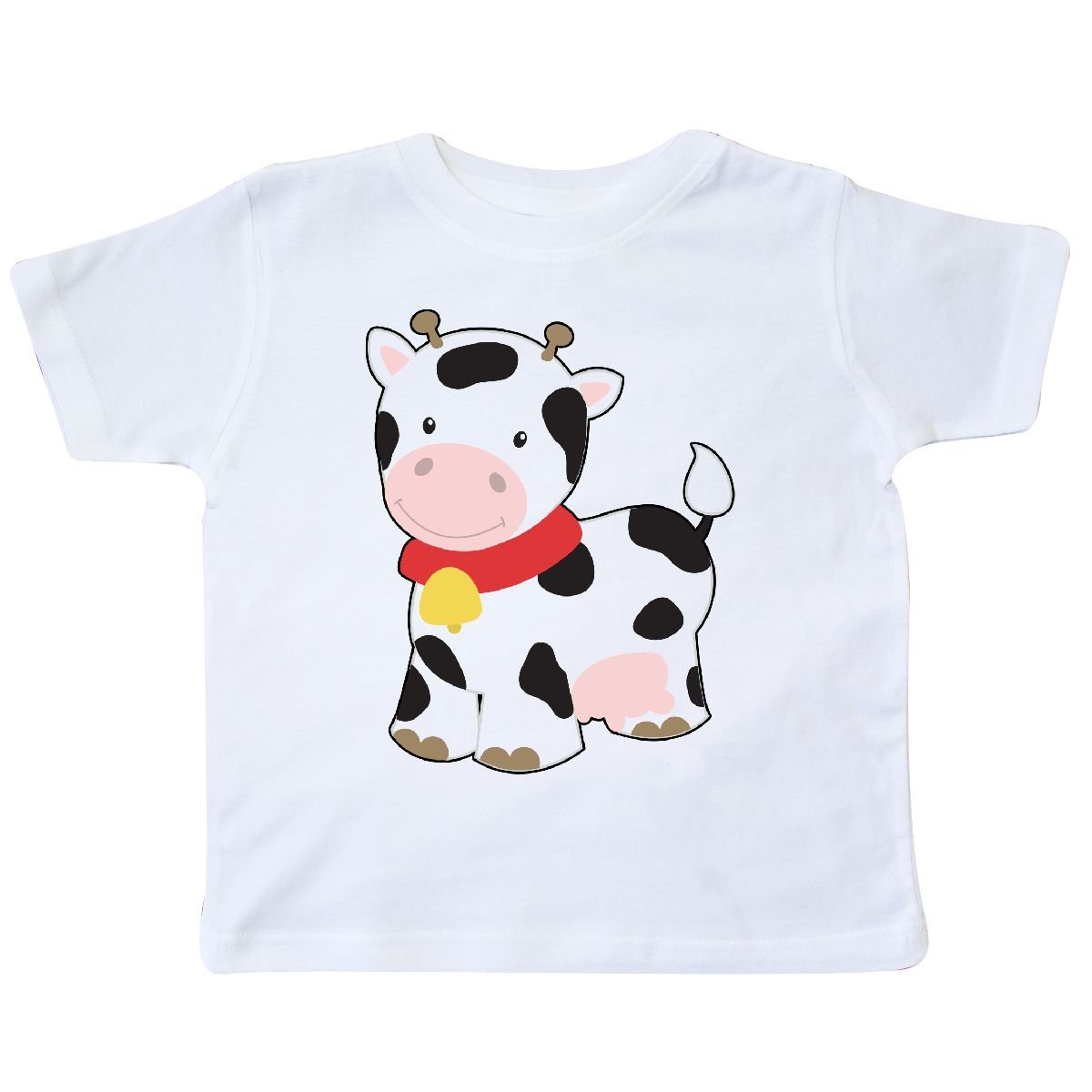 Inktastic Little Brown Cow Infant Creeper KiniArt White Cute Cartoon More Bell