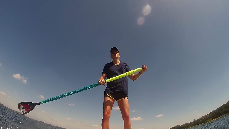 Vela para paddle board (verde fluorescente/azul): Amazon.es ...