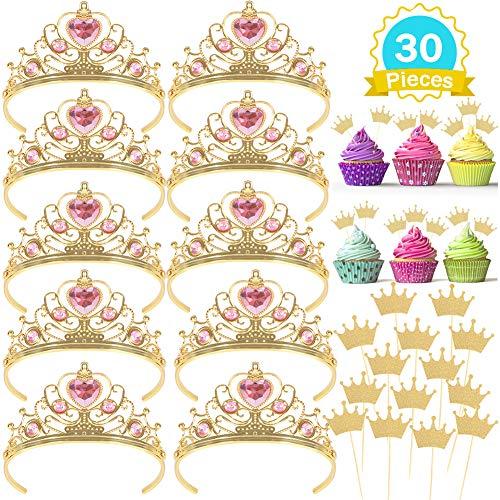 10 Pcs Princess Tiara and Crown with 20