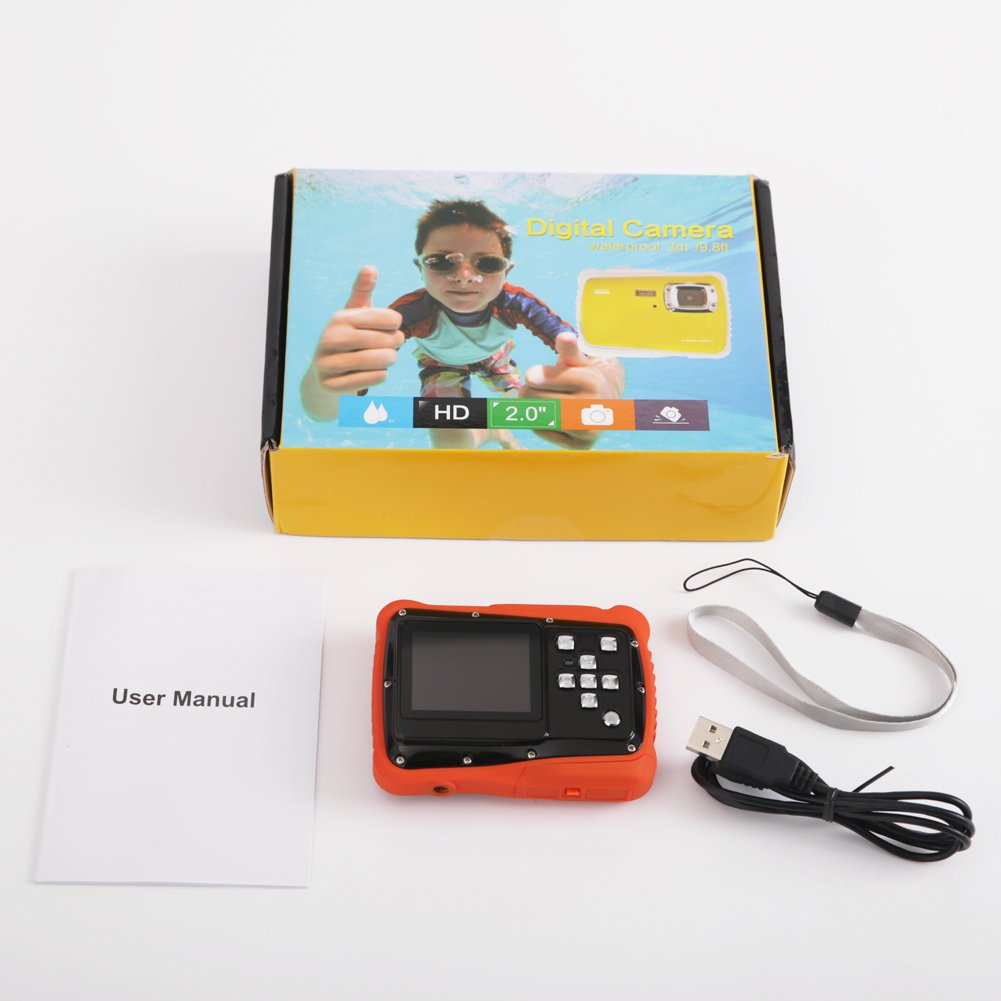 Kids Digital Camera - Waterproof to 3 Meters - HD Video Recorder and 5 Mega Pixels - Shockproof Childrens Camera (Orange) by BAVISION (Image #8)