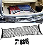 Zone Tech Vehicle Trunk Mesh Cargo Net - Black Premium Quality Universal Fit Cargo Storage Organizer with 3 Mounting Options ► The Zone Tech Vehicle Trunk Mesh Cargo Net takes your typical car organizer to a New Level. Instead of having to keep your...