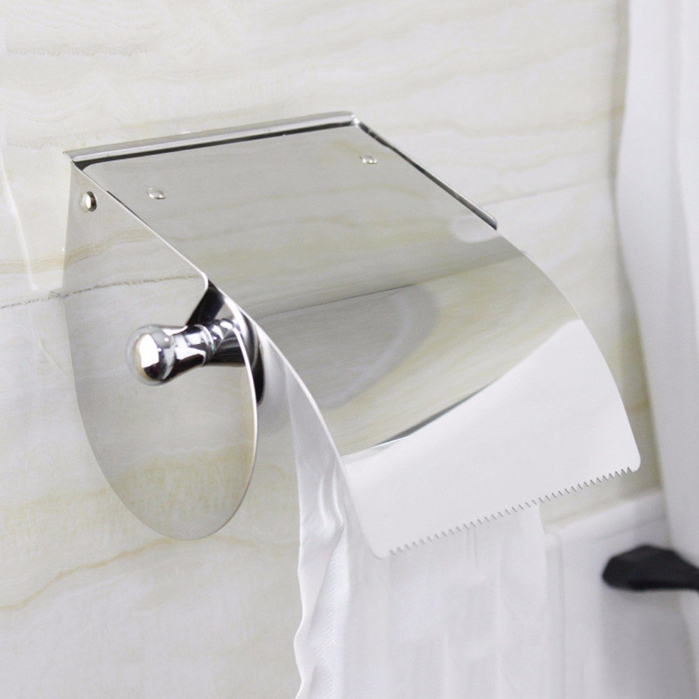 OLQMY-Durable Waterproof Stainless Steel Paper Towel Rack, Kitchen, Hotel Des Bains Hanging Paper Rack