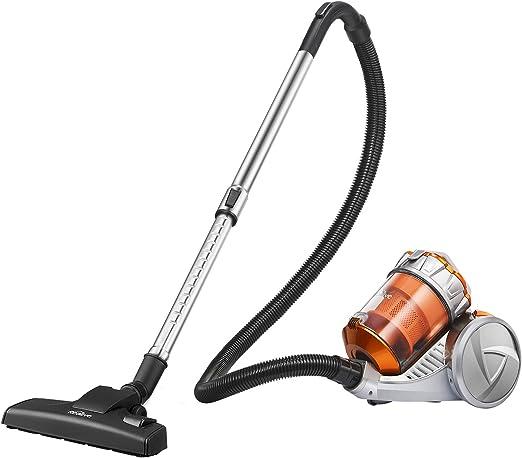 kealive – Aspiradora, aspirador sin bolsa (700 W, 3 L de depósito, 3 en 1 en el tubo, 8 m Radio de Acción, filtro higiénico lavable) Oro & Gris: Amazon.es: Hogar
