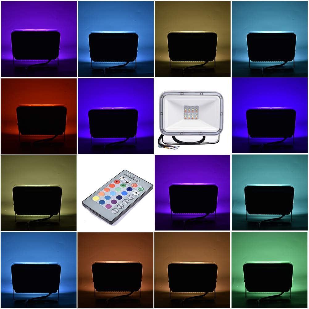 Faretto RGB parchi ecc. LED RGB 10W IP66 impermeabile palcoscenici matrimoni Faretto LED RGB per cortili feste