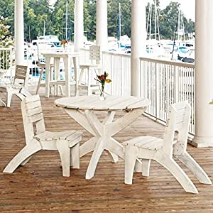 Uwharrie Chair Company Companion Collection 42 in Dining Table - Poly - Butter