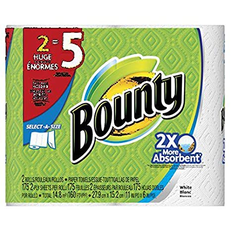 Amazon.com: Bounty Select-a-size Paper Towels, Huge Rolls, White, (Packaging May Vary) (4 Rolls): Home & Kitchen