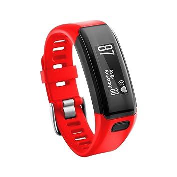 TopTen Garmin Vivosmart HR Correa de repuesto de silicona para reloj inteligente Garmin Vivosmart HR, 0.04, color rojo, Informal: Amazon.es: Deportes y aire ...