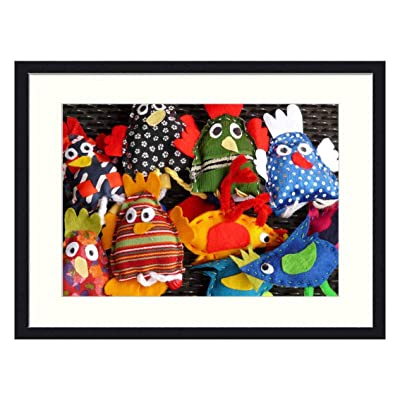 OiArt Wall Art Canvas Prints Wood Framed Paintings Artworks Pictures(20x14 inch) - Finger Puppets Hand Puppets Dolls Fabric Toys Bird: Home & Kitchen