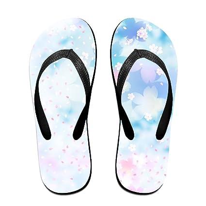 84a10837787d5 Amazon.com : Colorful Pastel Petals Unisex Thong Fit Flip-flops ...