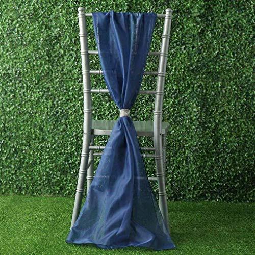Mikash Extra Wide Premium Chiffon Chair Sashes Bows
