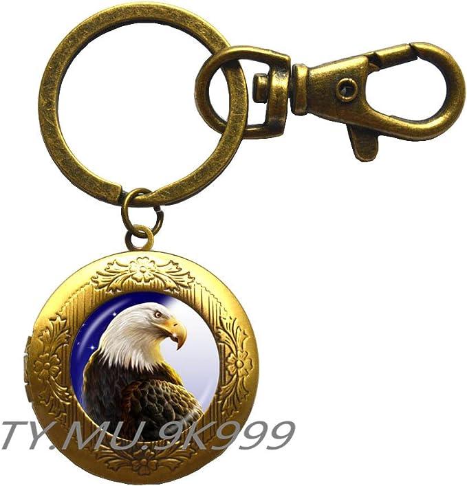 Eagle Spirit Animal Key Fob Animal Totem Accessory Hickory Wood Raptor Key Fob Bird Key Ring Eagle Key Chain