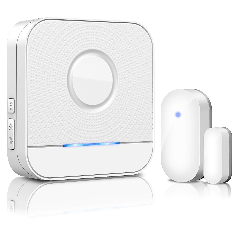 detector magn/ético inal/ámbrico de interruptor de radio sensor de alarma de puerta//ventana BITIWEND Mini sensor de puerta//ventana para timbre