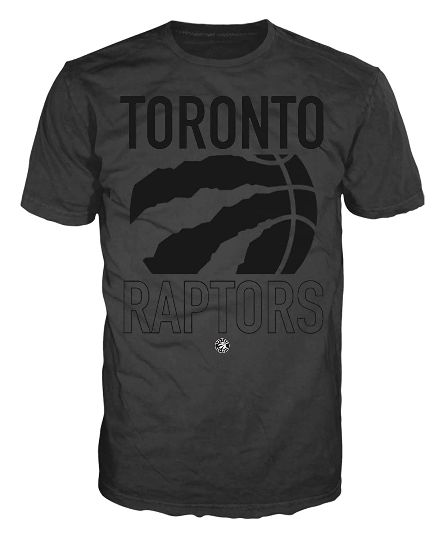 Toronto Raptors Cropped Logo Black on Black Mens Tee
