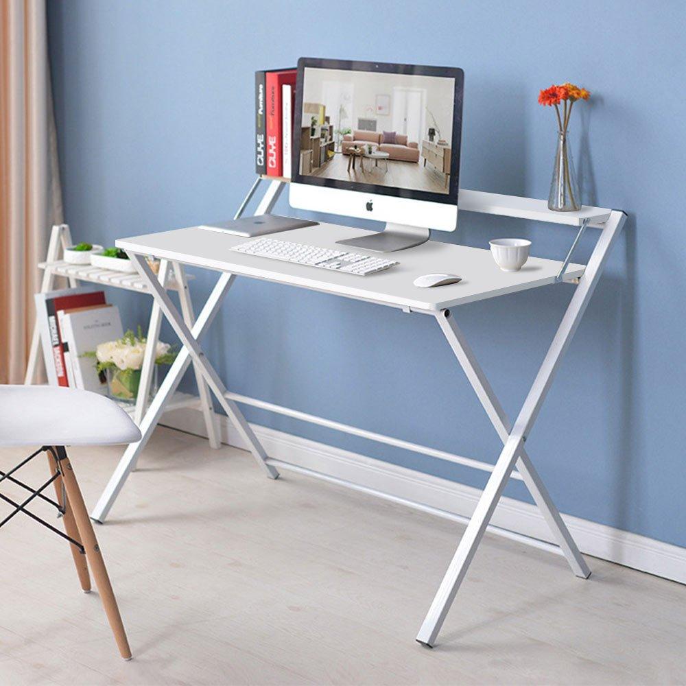 Grünsen Klapp Computer Schreibtisch Büro Schreibtisch Faltbare Industrial Style Laptoptisch für Home Office Arbeitsstation studieren