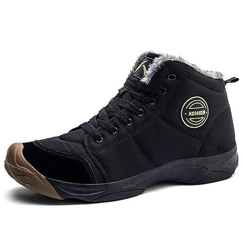 AZOOKEN Hombre Mujer Botas de Invierno Zapatillas Trekking Senderismo Impermeables Nieve Antideslizante Calientes Botines 36-46: Amazon.es: Zapatos y ...