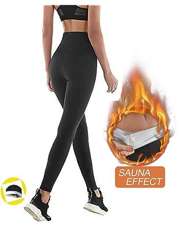 a7eeae4169cc NHEIMA Pantaloni Sauna Dimagranti, Leggings Anticellulite Donna Fitness,  Leggings Termici Vita Alta in NANOTECHNOLOGIE