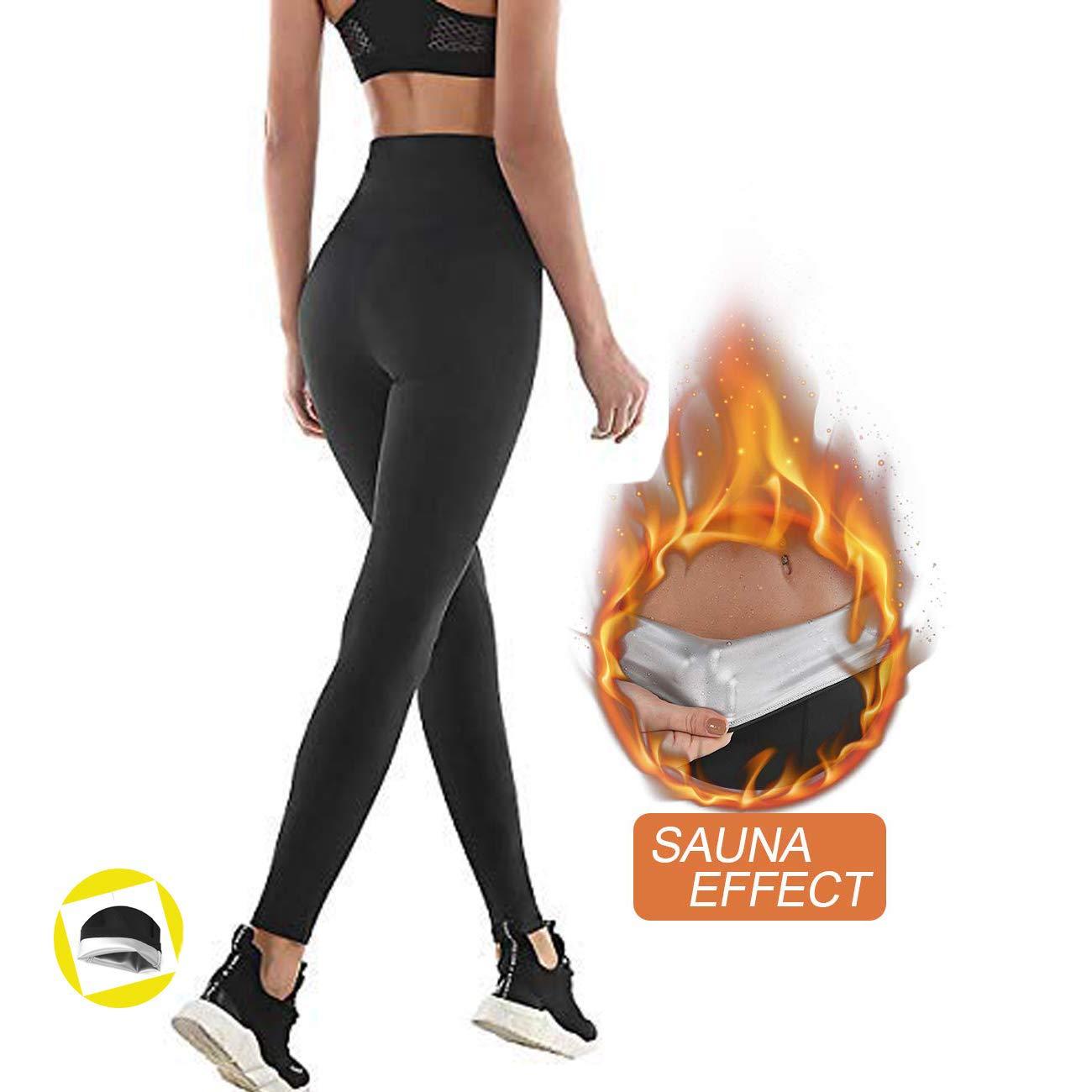 Id/éal pour Minceur Fitness Jogging Yoga Obtenir Ventre Plat Anti Cellulite Legging de Sport /à Taille Haute en Nano-Mat/ériaux pour Acc/él/érer Transpiration NHEIMA Pantalon de Sudation Femmes