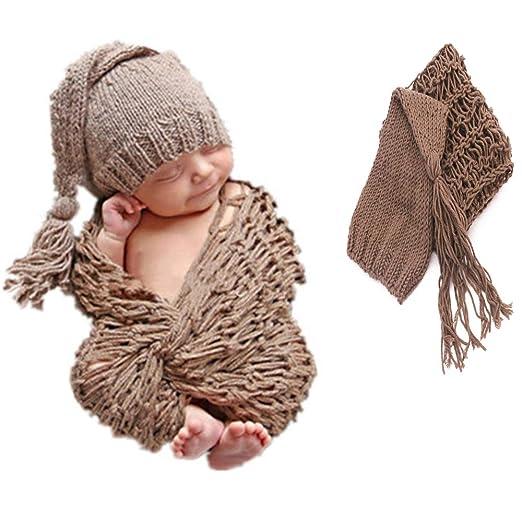 QinWenYan Fotografía Ropa Ganchillo Bebé Recién Nacido Apoyos De ...