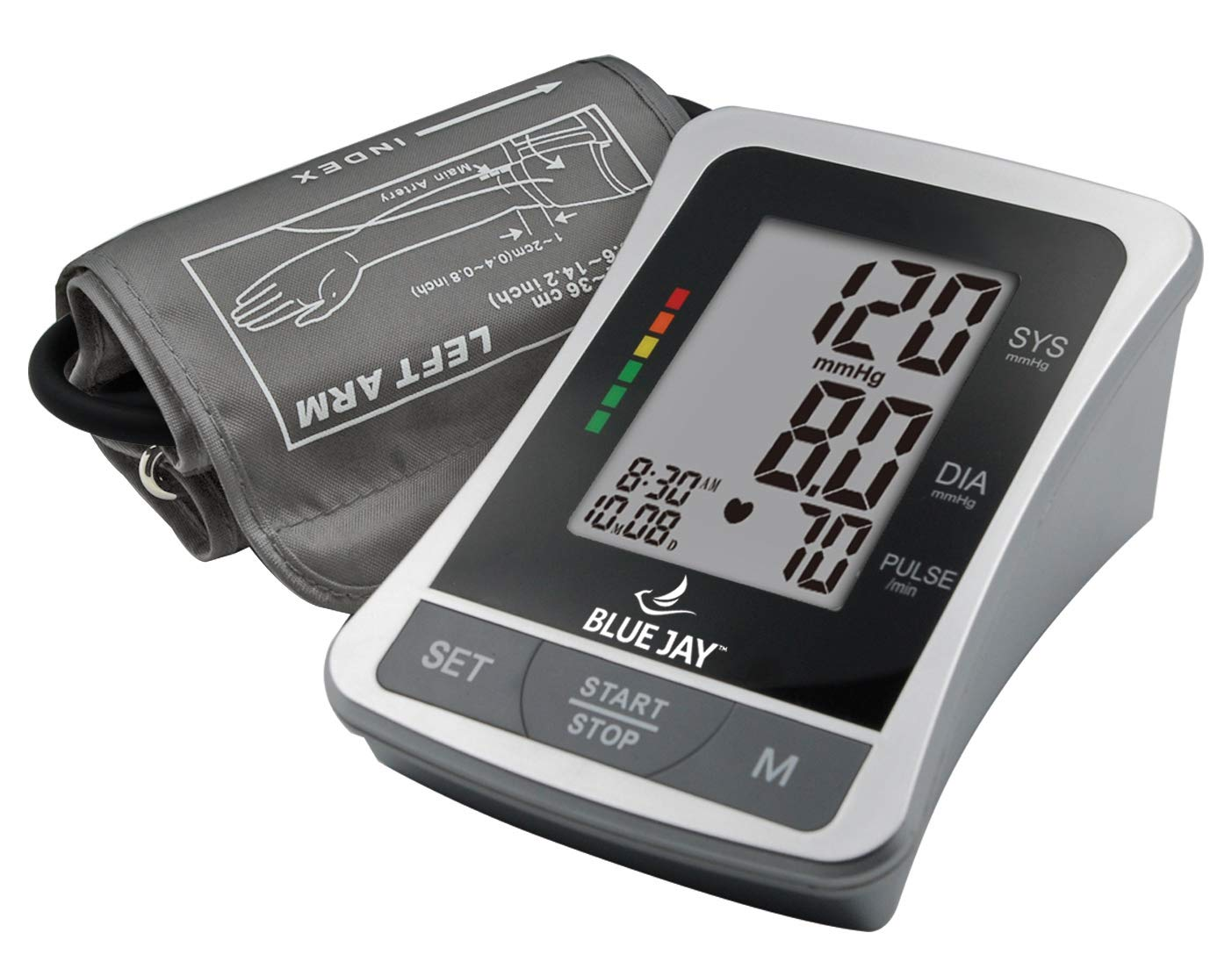 Amazon.com: Blue Jay Perfect Measure Deluxe Large Digit Arm Blood Pressure Kit - Blood Pressure Measuring Kit, Adult BP Meter, 2 Arm Cuffs, ...