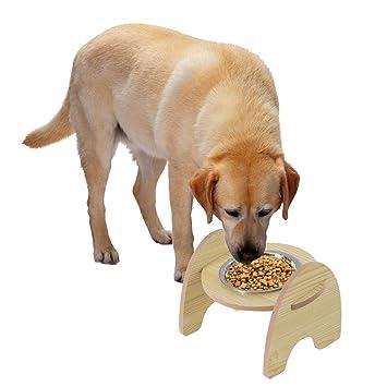 Bandeja de Madera para Mascotas, Cuenco de cerámica, Cuencos para Gatos, Cuencos para