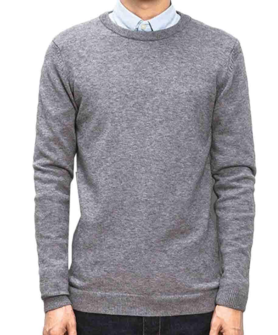 GRMO Men Big /& Tall Long Sleeve Slim Crew Neck Knit Pullover Sweater