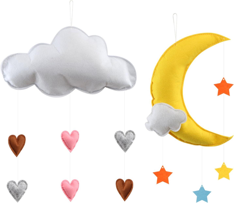 OULII D/écoration de plafond /à suspendre avec nuage et /étoiles pour chambre denfant