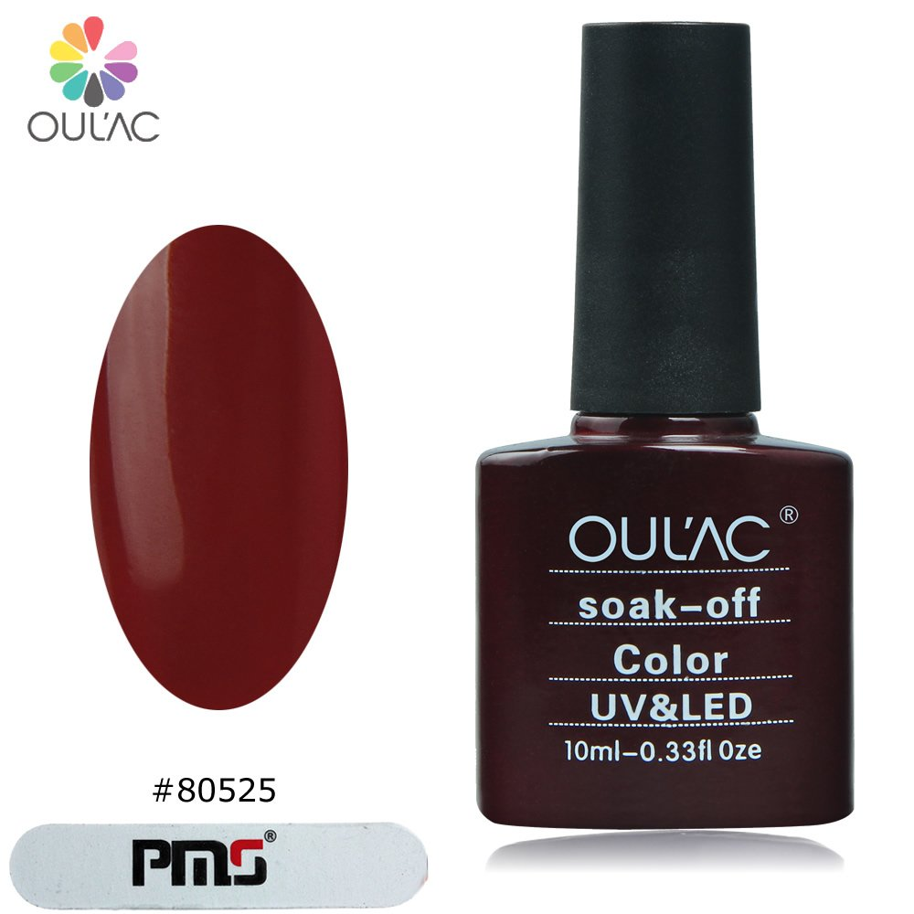 Vernis à ongles gel oulac, rouge burlesque