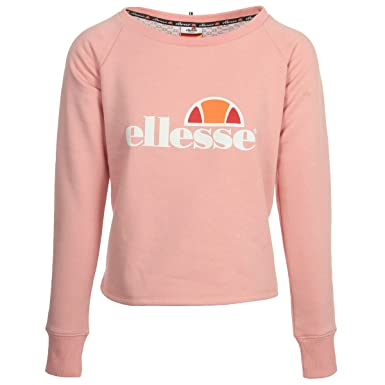 Ellesse Eh Femme Cropped Sws Rose Clair Sweatshirt Amazon Co Uk