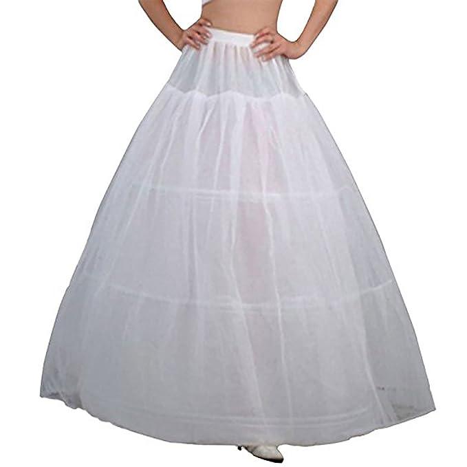 Women Ankle-length White 6 Hoop Petticoat Skirt Wedding Quinceanera dress Slip