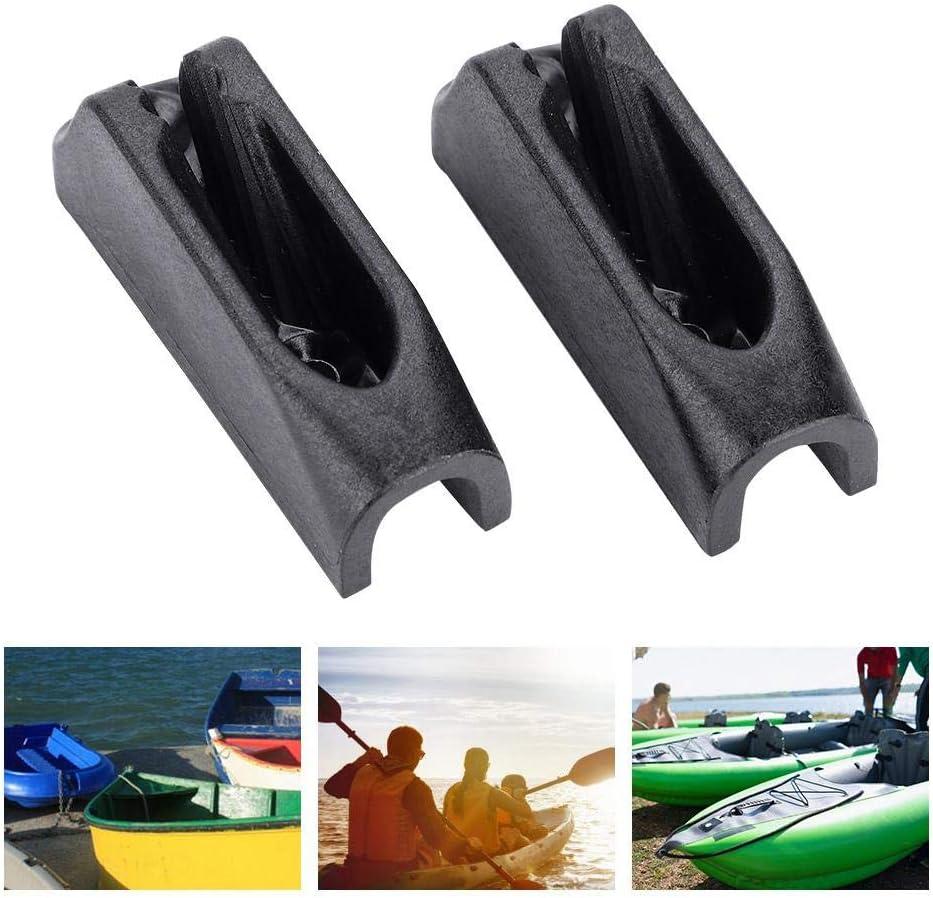 Boucle de Corde de Kayak 1 Paire Durable en Plastique Noir Pont Ligne Corde Boucle Bungee Cordon String Deck Ligne Titulaires Deck Ligne Attache Patch Accessoire pour Kayaks Cano/ës Bateaux /à Rames