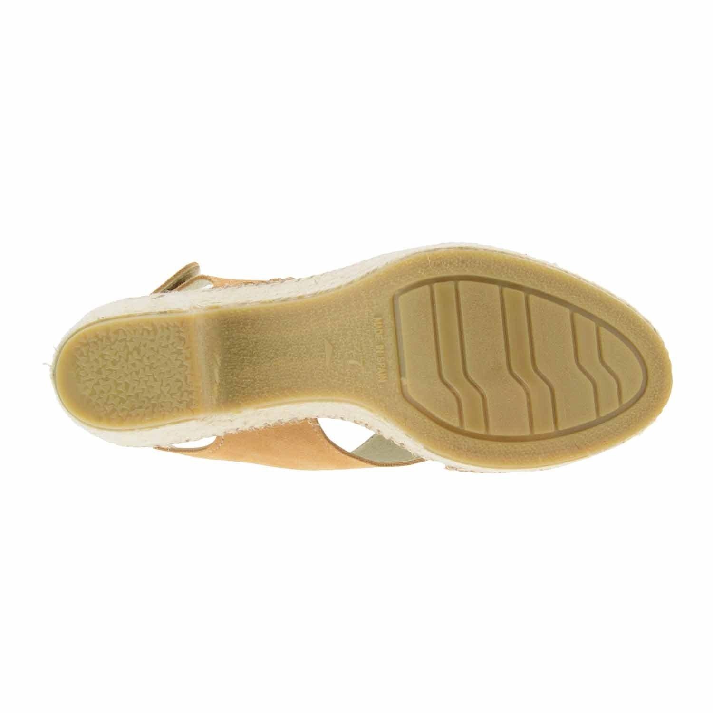 Sandalias de esparto y piel Talla: 37 Color: CAMEL: Amazon.es: Zapatos y complementos
