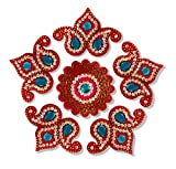 Unique Arts Double Carry Acrylic Rangoli for Diwali Home Décor - AR215