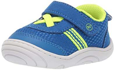 bc61bc188a94 Stride Rite Jackson Baby Toddler Girl s and Boy s Casual Sneaker First  Walker Shoe Blue 3